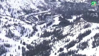 Alpine Meadows ski resort near Lake Tahoe