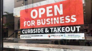 Open For Business, Curbside Pick Up banner