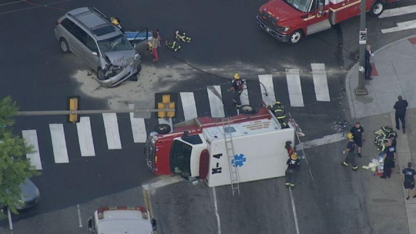 Medic Ambulance Crash Fox and Hunting Park Avenue