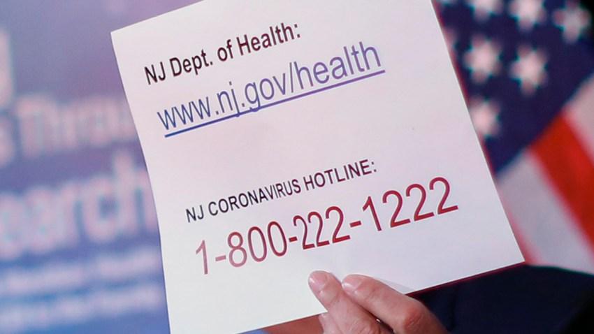 New Jersey coronavirus hotline