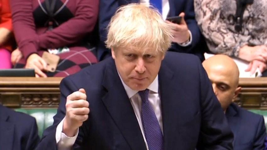 Foto del primer ministro britanico Boris Johnson