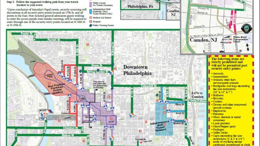 mapa visita papal 2 sept