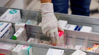 Medicamentos en una gaveta