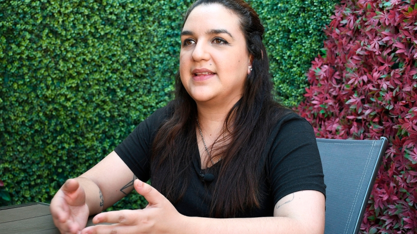 Vocera del colectivo feminista Las Brujas del Mar