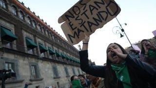 Protesta de feministas en Ciudad de México