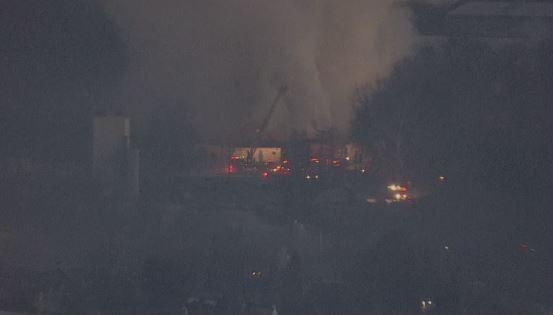 smoke bethlehem warehouse fire