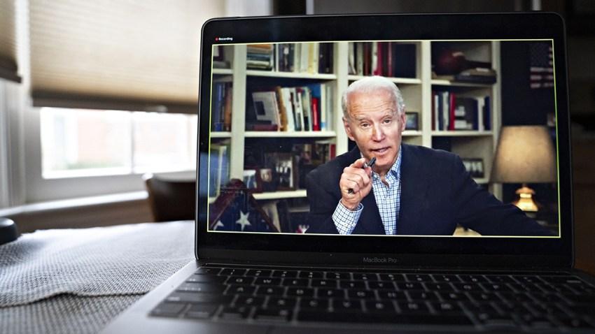 El precandidato demócrata Joe Biden habla durante una conferencia virtual. La fotografía fue tomada el pasado 25 de marzo, 2020, desde Arlington, Virginia.