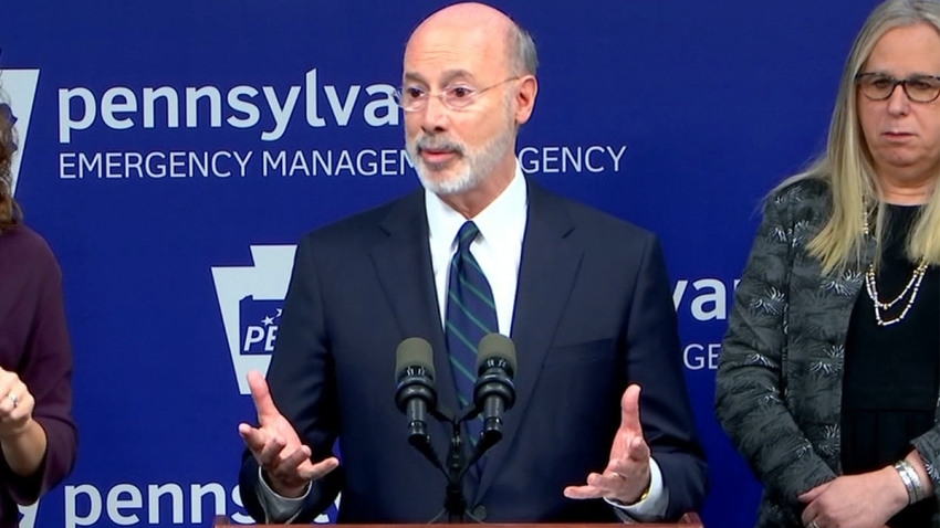 Left: Pennsylvania Gov. Tom Wolf. Right: Pennsylvania Health Secretary Dr. Rachel Levine
