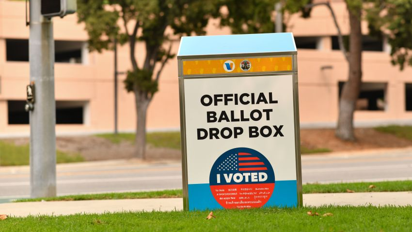 An official ballot drop box.