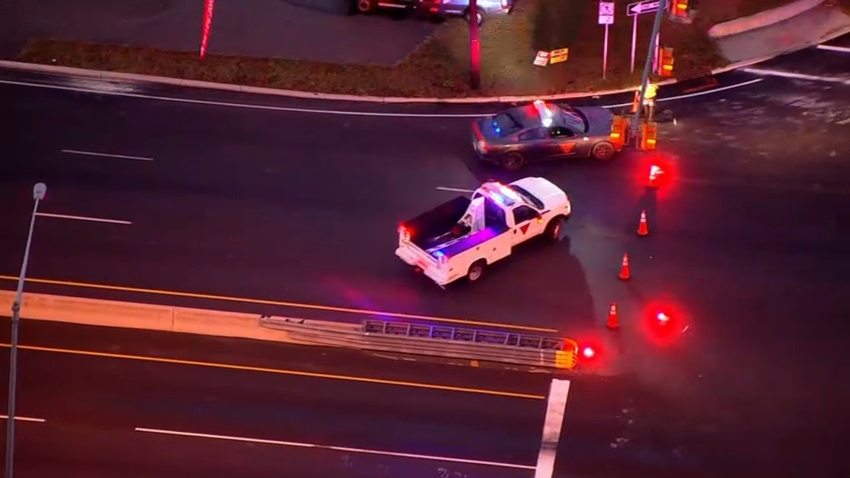 Police investigate a deadly hit-and-run on Route 38 on Oct. 16, 2020