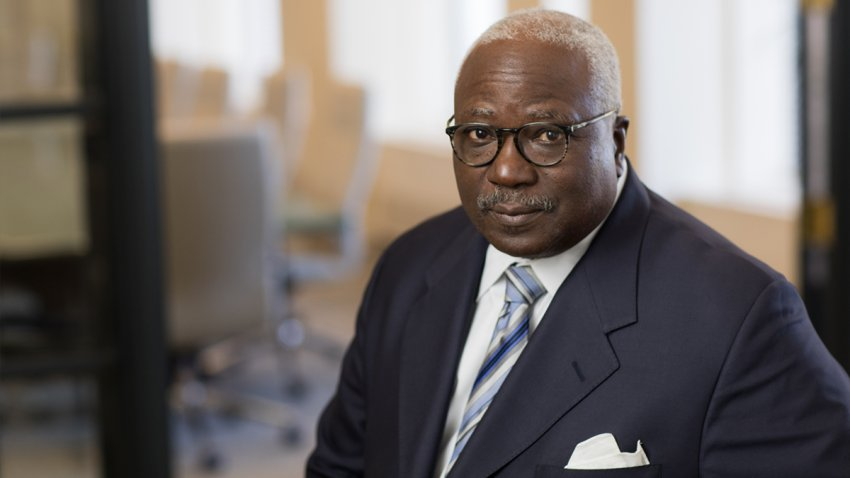 Bernard Smalley looks at the camera in a portrait photo. Smalley was elected the first Black president of the Board of Directors of City Trusts in the agency's 151-year history.