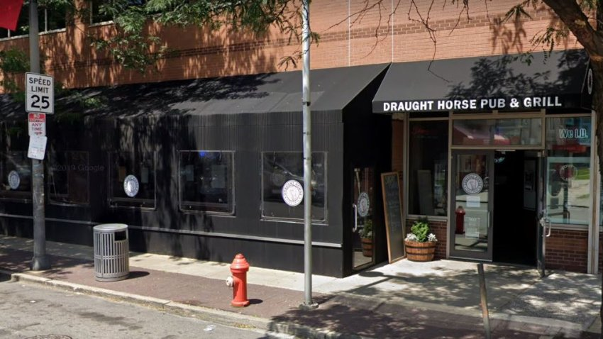 The exterior of Draught Horse Pub & Grill in North Philadelphia
