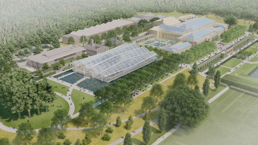 An artist's rendering of the Longwood Gardens Reimagined project