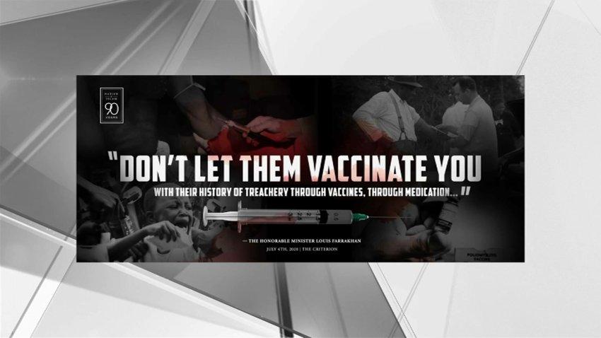 Example of vaccine disinformation