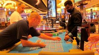 Man at casino game