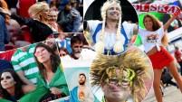 Los fanáticos le dan brillo a este Mundial y su creatividad abarca casi todo. La belleza en todas sus presentaciones o empaques, salta por todos lados en los...