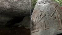 Dicen que en este lugar, una nave extraterrestre se impactó hace 200,000 años, y que dos de los seres que viajaban en ella murieron, mientras que un tercero...
