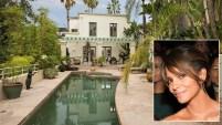 La casa está ubicada en el área exclusiva de Hollywood Hills y tiene de vista el Océano Pacífico.