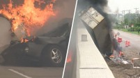 Impactantes imágenes de choque mortal en una interestatal en Wisconsin.