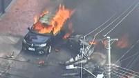 Una avioneta se estrelló en una calle de Brasil dejando tres personas muertas.