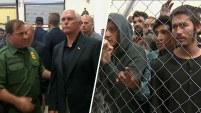Durante la visita del vicepresidente Mike Pence a la frontera, algunos migrantes enjaulados comenzaron a gritar que tenían hambre y querían lavarse...