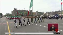 Guardia nacional abre desfile militar en México