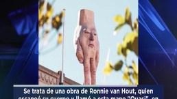 La polémica mano con rostro que apareció en un techo