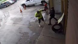Violenta pelea en taller de gomas de Hialaeh