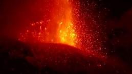 De cerca: las impresionantes erupciones de lava del Etna