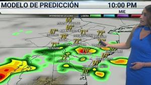 <p>Nublado con la posibilidad de aguaceros dispersos en partes de la zona.</p>