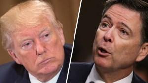 Cuestionan a Comey por revelar charlas que tuvo con Trump