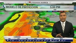 <p>Precipitaciones en ocasiones intensas para el miércoles con temperaturas máximas en los 70 grados.</p>