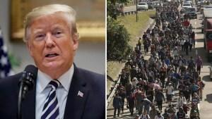 Por la caravana, Trump planea limitar peticiones de asilo