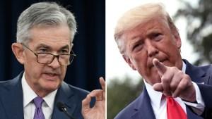 """Trump llama """"idiotas"""" a los miembros de la Reserva Federal"""