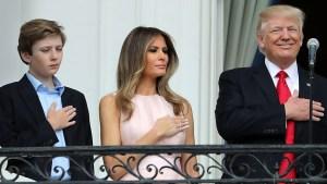 Cámaras captan sutil seña de Melania a Trump