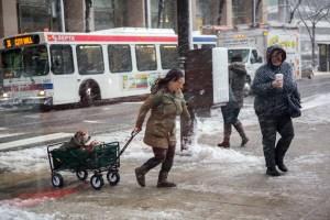 Nieve podría afectar el tránsito vespertino