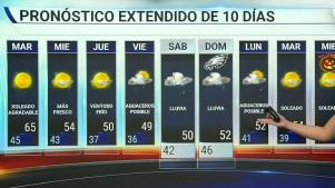 <p>Se pronostica que la temperatura para el d&iacute;a martes estar&aacute; por los bajos 60 grados.</p>