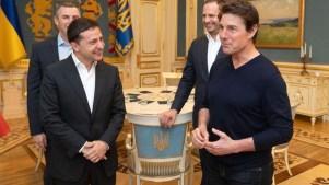 """Presidente de Ucrania a Tom Cruise: """"¡Eres guapo!"""""""