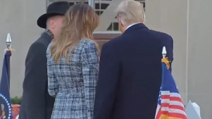 Trump visitó la sinagoga donde ocurrió masacre