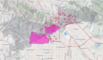 Mapa: vea dónde arde el Incendio Saddleridge