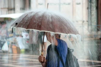Periodos de lluvia intensa durante el fin de semana
