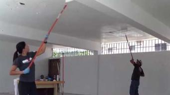 Atletas remodelan escuela en Trujillo Alto