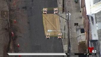 Parte de calle colapsa al sur de Filadelfia