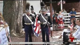 Celebran día de la bandera en Filadelfia