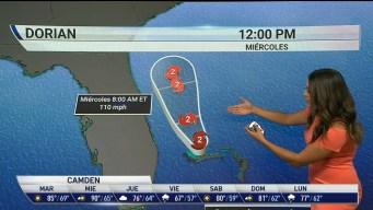 Dorian baja de categoría en ruta a la costa de Florida