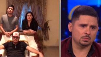 Larry Hernández llora al escuchar mensaje de su familia