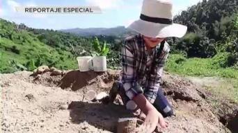 Pequeña agricultora comparte su amor por la tierra
