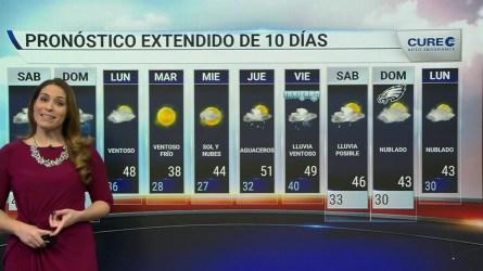 Habrá lluvia localmente fuerte esta fin de semana, con temperaturas mas frías el domingo.