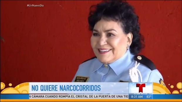 """Carmen Salinas, """"No a los narcocorridos"""""""