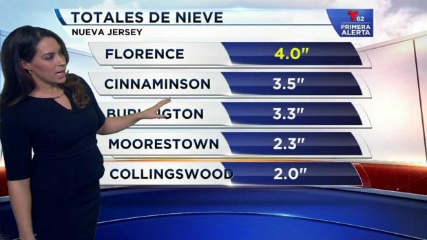 [TLMD - PHI] Totales preliminares de nieve en la región
